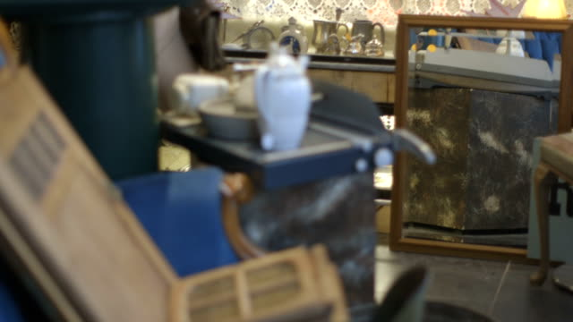 Senior Woman working in Secondhand store video