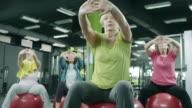 Senior women exercising in gym video