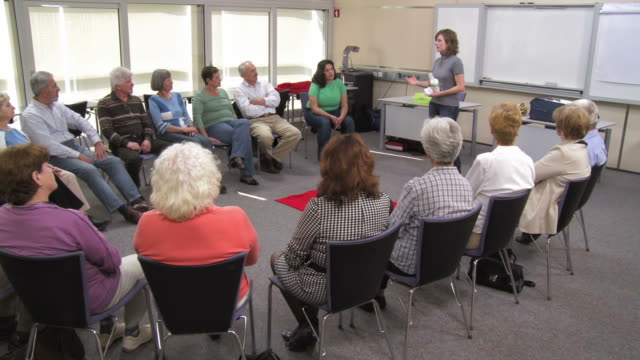 HD DOLLY: Seniors Attending First Aid Training video