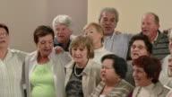 HD: Senior's Choir Having Fun video