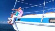 Seniors Enjoying Yachting Relaxation video