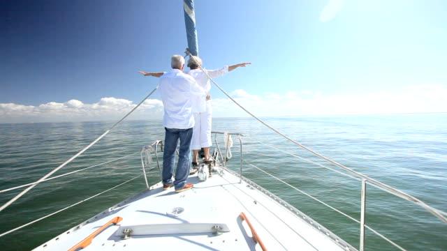 Seniors Fun on Board a Yacht video