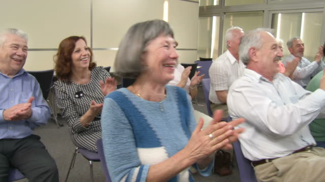 HD DOLLY: Seniors Give Applause After Great Show video