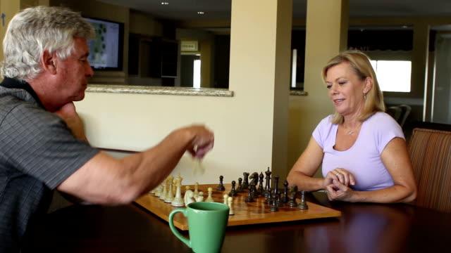Seniors Play Chess in Gameroom TrackRight video