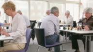 HD DOLLY: Seniors Playing Chess video