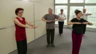HD DOLLY: Seniors Practicing Tai Chi video