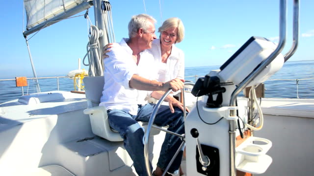 Seniors Sailing Their Luxury Yacht video