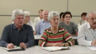 HD: Seniors Singing In Lecture Room video