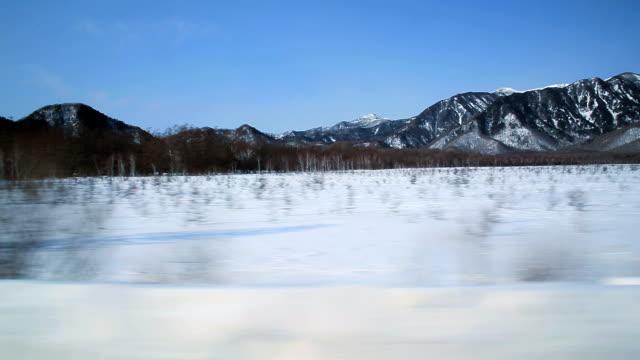 Senjogahara Marshland in winter video
