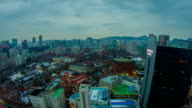 Seoul City City Lights and Traffic video