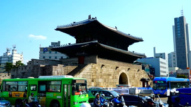 Seoul Heunginjimun Gate at Seoul , Korea video
