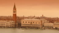 4K Sepia view of Canale grande, Venice, Italy video