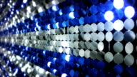 Sequins reflective background. Blue and White. video