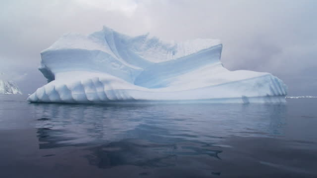 serrated iceberg in antarctica video