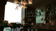 Served Table, Buffet and Chandelier video