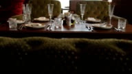 Served Table for Five People in Restaurant video