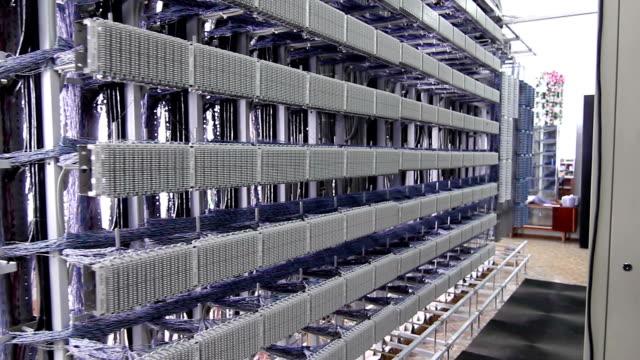 Server room filled with racks video