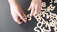 Service Spelled In wooden alphabet video