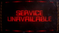 Service Unavailable Warning Alert Signaling on an Old Monitor video