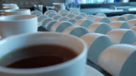 Serving coffee and tea at bar video