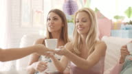 Serving tea on baby shower party video