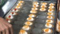 Serving Thai crispy pancake to customers, Bangkok , Thailand video