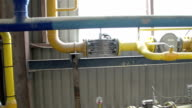 Set of gas pipes in the area video