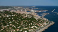 Sete Harbour And Old Town  - Aerial View - Languedoc-Roussillon, France video