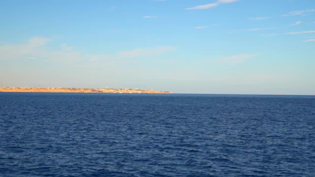Settlement on a deserted beach. Red sea. Sinai peninsula video