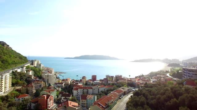Settlement Rafailovici, Budva Riviera, Montenegro. The coast of video