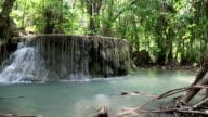 Seven-tiered Erawan Waterfall in Erawan National Park, western Thailand video