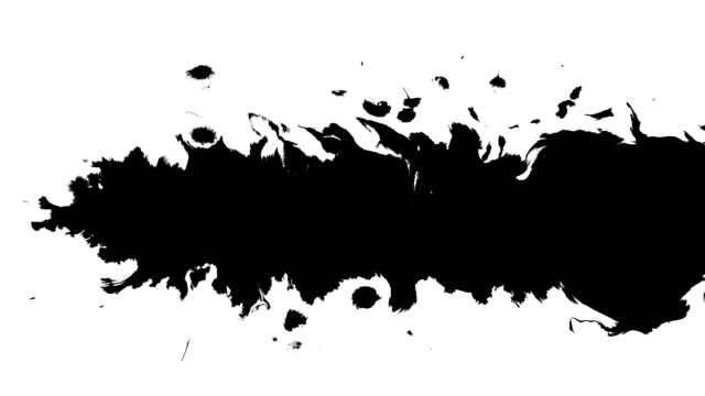 Several ink drops from right to left on wet paper video