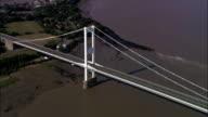 Severn Road Bridge - Aerial View - Wales, Monmouthshire, United Kingdom video