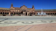 Seville, Spain - famous Plaza de Espana. Old landmark. video