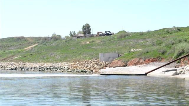 Sewage Pipe Polluting Sea video