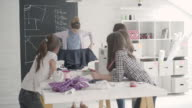 Sewing class for kids. video