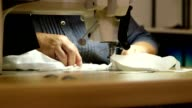 Sewing machine at work video