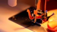 Sewing machine working video