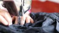 Sewing pattern Black. video
