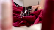 Sewing Red HD Video video