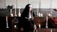 sexy bad nun in church video