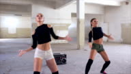 Sexy dancers practicing video