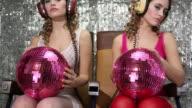 Sexy disco woman acting video