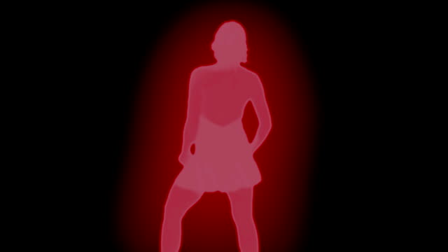Sexy Female Dancing Red Glow 1080p video