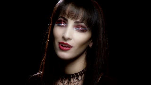 sexy female vampire witch flirts video
