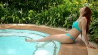 Sexy girl in bikini video