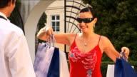 Sexy Italian girl designer shopping with her boyfriend video