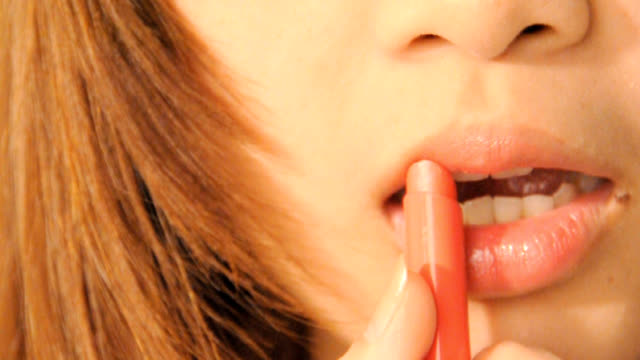 sexy lips  - close-up portrait video