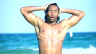 HD SUPER SLOW MO: Sexy Man Coming Out Of Water video