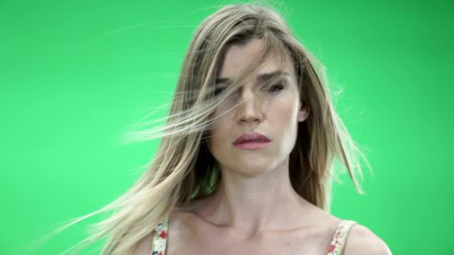 Sexy Model on Green BG video